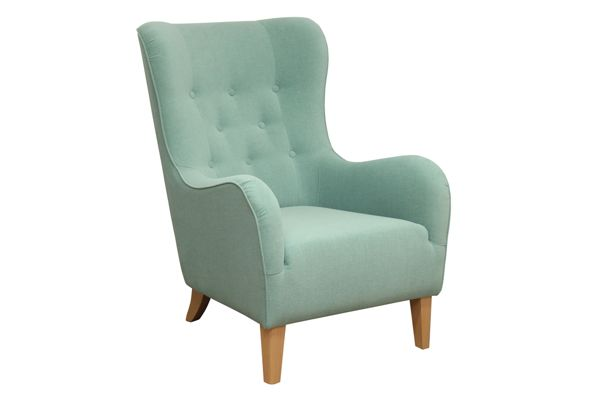 Miętowy fotel Soft Mint