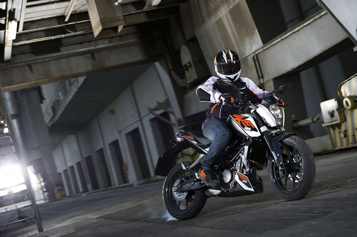 The 2013 KTM 125 Duke is the first 125cc motorcycle to come with ABS fitted as standard and is, once again, available with a free insurance offer and finance options including 0% APR* Representative.