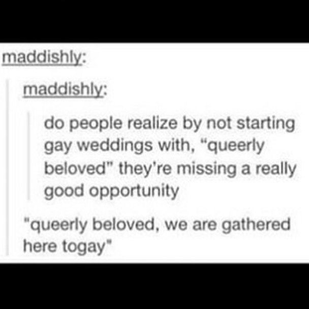 my wedding is being written for me xD @piperbird13