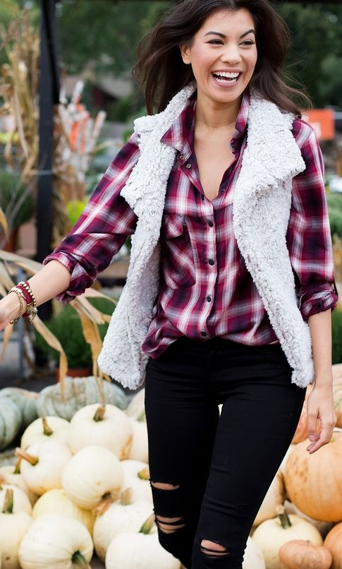 Damien Plaid Boyfriend Shirt Sanctuary, Frosty Tipped Cozy Vest Dylan, b(air) Ankle Skinny 7 For All Mankind, Coin Leather Bracelet Harriet Isles