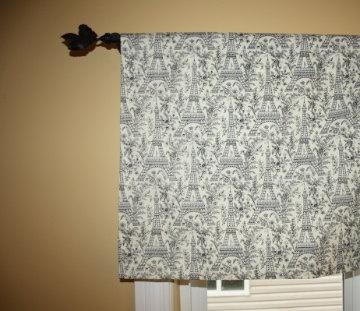 Michael Miller Eiffel Tower Paris Cotton Valance  by KlothShoppe, $24.95