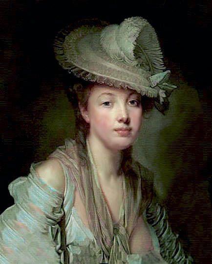 Pintura Rococó, retrato perfeccionista por Greuze.