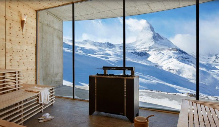 Wow! We can't get enough of the breathtaking views from the Riffelhaus 1853 hotel in Zermatt, Switzerland! Who else wants to visit?