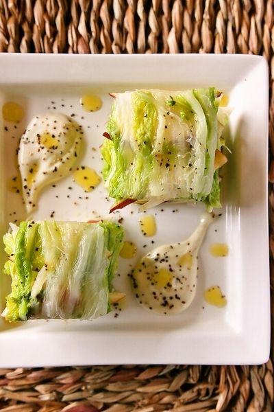 【スパイス大使】白菜とリンゴのミルフィーユ風サラダ~ホースラディッシュソース添え