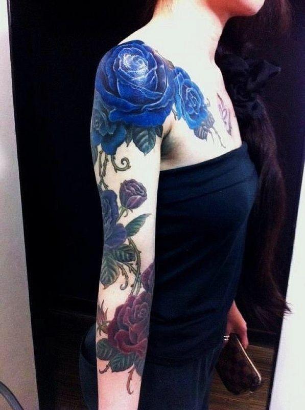 Цветочные татуировки | 867 фотографий