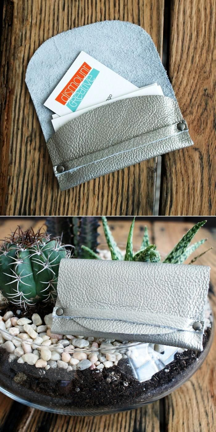 DIY Leather Biz Card Wallet and many more idea for wallet.