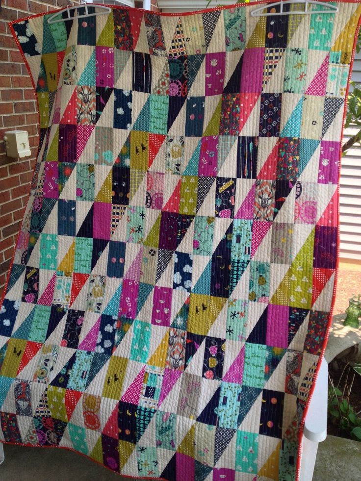 RMM Quilt: Lefty made using Left side, HRT and Cotton + Steel fabric.