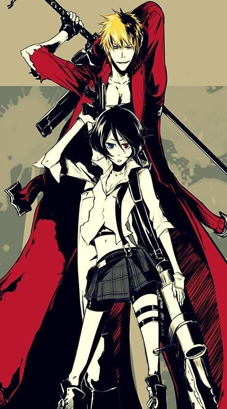 Anime/manga: Bleach and Devil May Cry Characters: Ichigo and Rukia