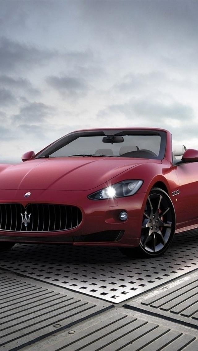 maserati gran cabrio, sports, red, Cars