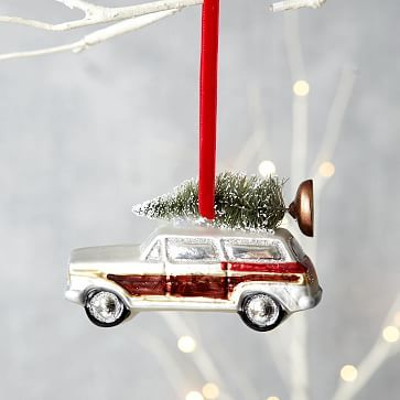 Vintage Car Ornament - Station Wagon #westelm