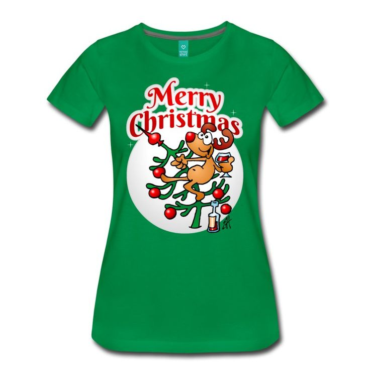 Reindeer in a Christmas tree T-Shirt.  #reindeeer #christmastree #Tshirt #christmas #christmasgifts #gift #gifts #Cardvibes  A reindeer in a Christmas tree drinking a glass of wine, wishing everyone a merry Christmas.