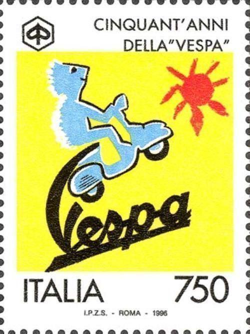 # ITALIA ITALY - 1996 - 750 Lire - 50° Anniversary Vespa Piaggio - Stamp MNH
