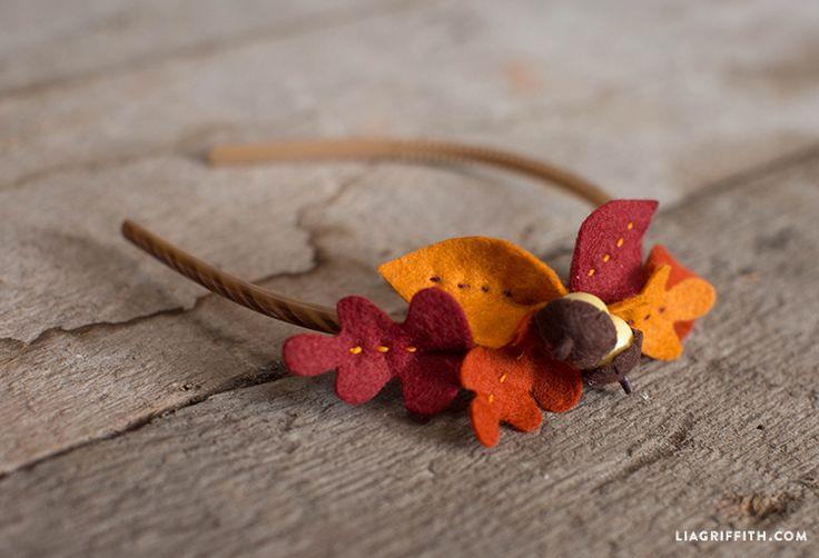 Felt Leaf Headband