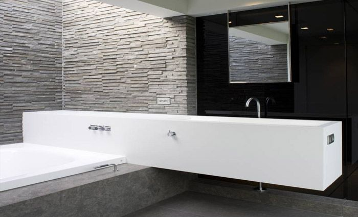 Bathroom; Behind the Bathroom furniture is the shower...
