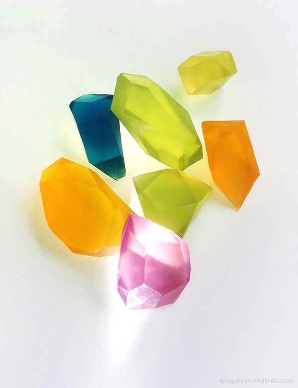 DIY Soap Gemstones