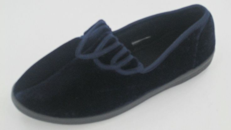 Ladies Unbranded Navy Slippers X2028