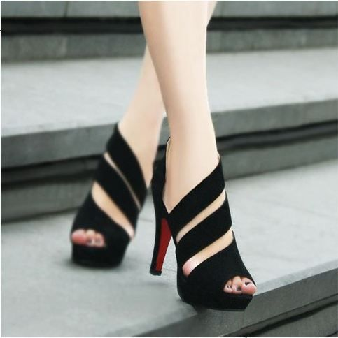 "Free Shipping Worldwide Cone Heels Ultra high heels Platform Pumps Sandals For Less.  Features:  100% Brandnew, Trendy Shoes,Excellent Quality  Upper Material:PU  Heel Height:High (3"" and up)  Closure Type:Zip  Insole Material:Rubber  Fashion Element:Platform    Please refer to the size chart pro..."