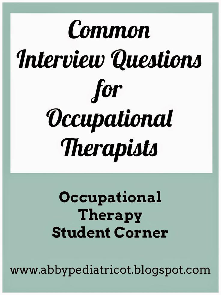 OT Cafe: OT Student Corner | Common Interview Questions for Occupational Therapists