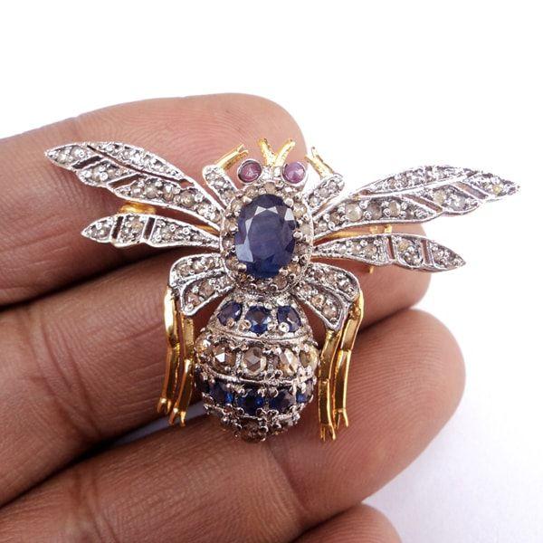 Latest Design Diamond Brooch cum Pendant