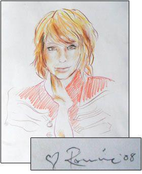 Ronnie Wood's sketch of former girlfriend Ekaterina 'Katia' Ivanova, 2008