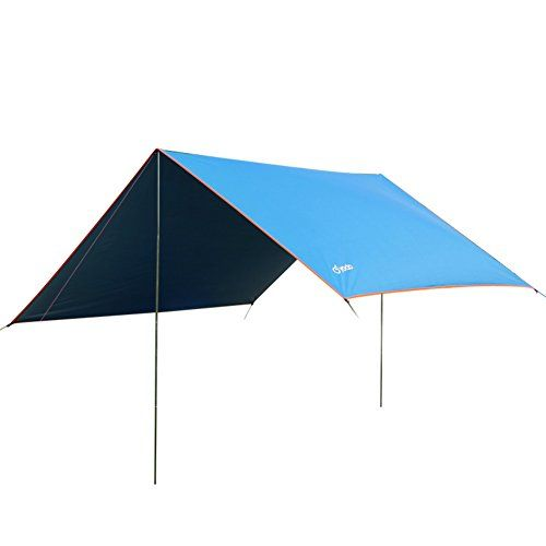 Yodo Lightweight Hammock Sun Shelter Shade Tent Tarp Awning Canopy with Poles for Outdoor Camping Hiking Backpacking Picnic Fishing,Blue. For product & price info go to:  https://all4hiking.com/products/yodo-lightweight-hammock-sun-shelter-shade-tent-tarp-awning-canopy-with-poles-for-outdoor-camping-hiking-backpacking-picnic-fishingblue/