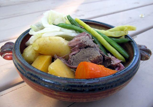 Bouilli de légumes.