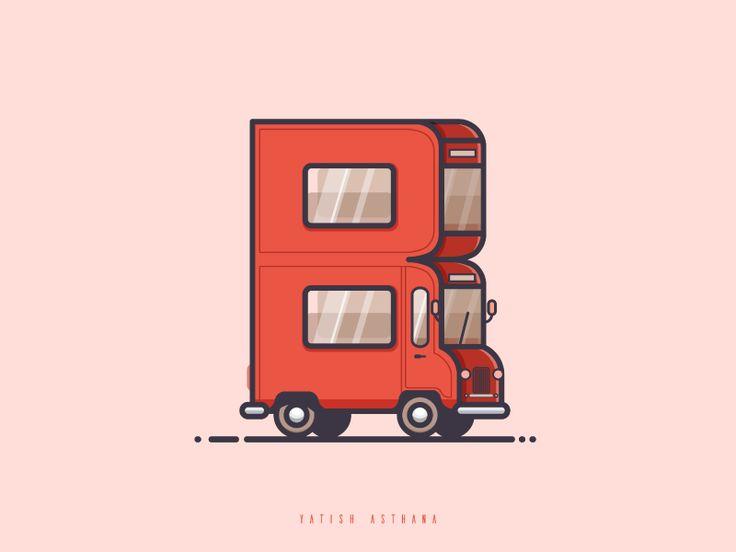 "B  ""BUS"" by Yatish Asthana #Design Popular #Dribbble #shots"