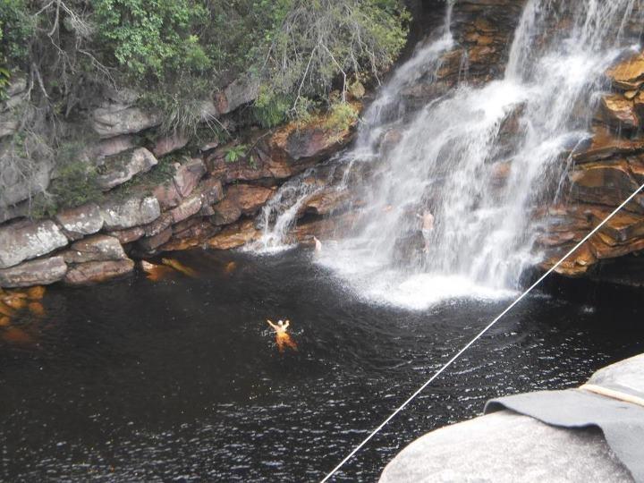 Linda cachoeira na Chapada Diamantina.
