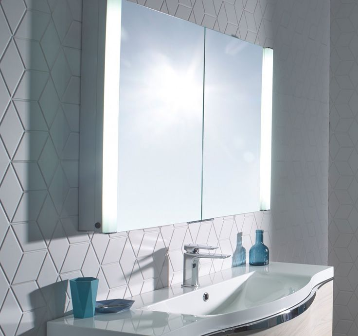 Bathroom Mirror Cabinets With Shaver Socket Modern White Bathroo Floor