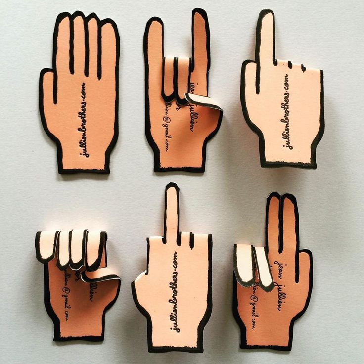 These creative letterpress business cards feature the concept and design of designer Jean Jullien.