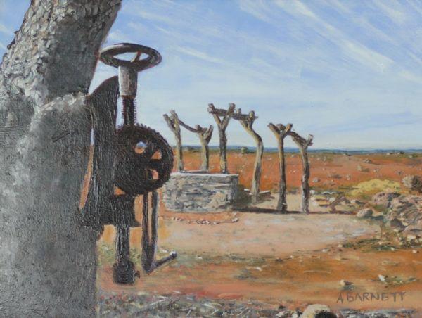 Abandoned Mine Tibooburra NSW - Oil on MDF