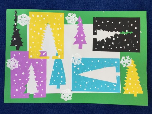Matisse's collages were our inspiration for these winter-themed cutouts in 2nd grade. Students had studied a bit about Matisse when we made...
