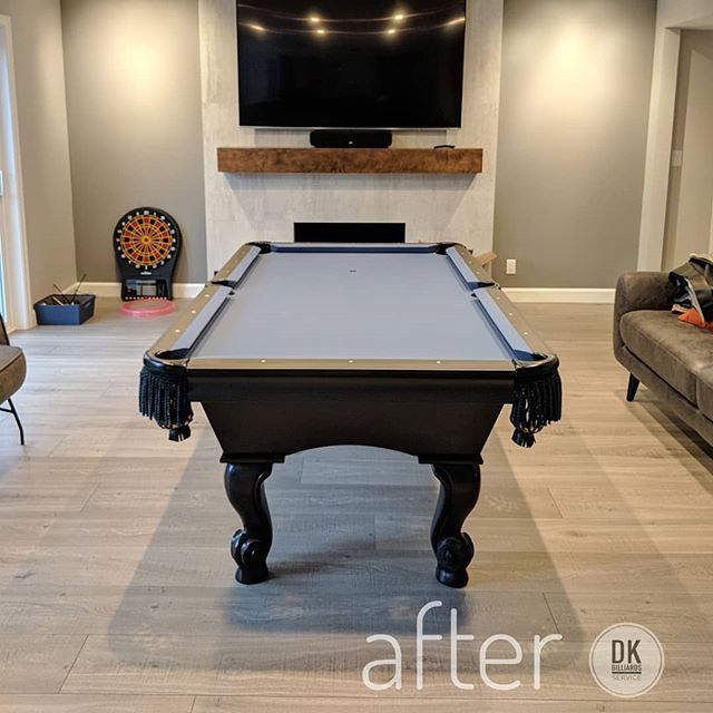 Finished Recovering This 7 Foot Custom Pool Table In
