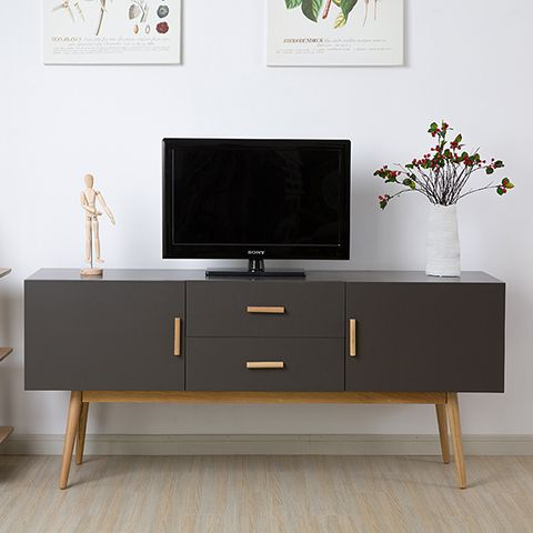 Online Shop Modern Minimalist Dark Wood Coffee Table TV Cabinet White Section Of The Nordic Creative Living Room IKEA Furniture