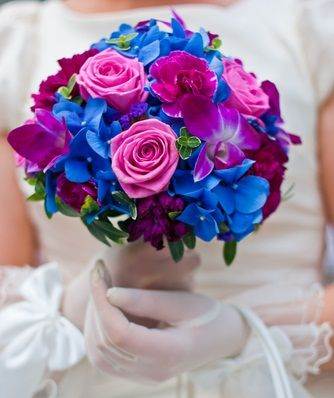 Wedding Flowers Blue And Purple