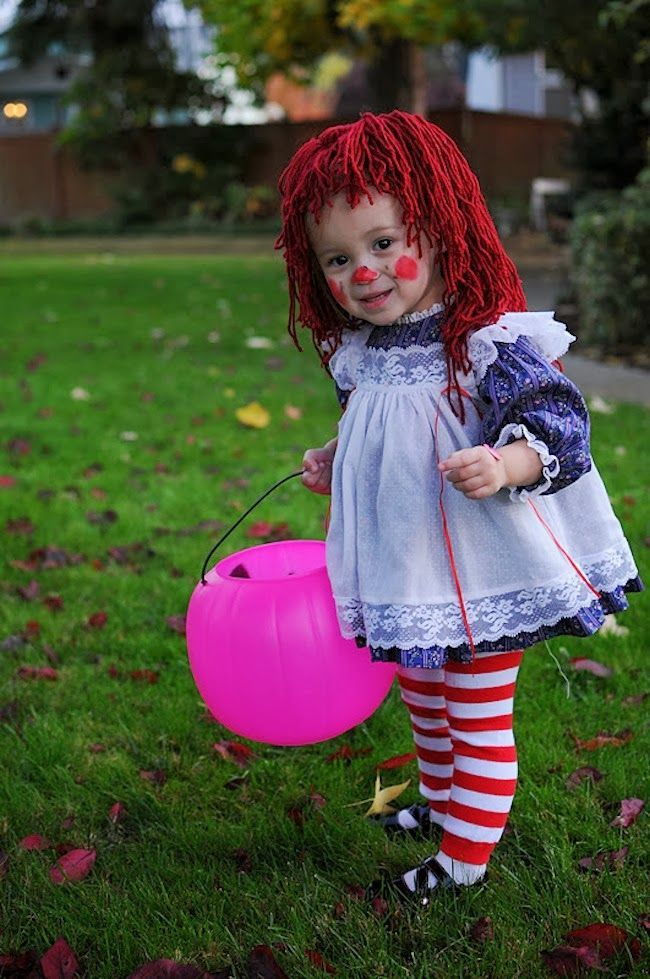DIY Halloween Costumes for Kids.. raggedy anne costume, for if there ever is a little girl in the family again..
