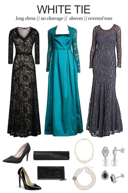 Black tie wedding dress rules