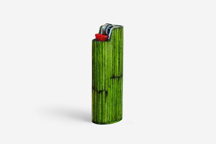 Handmade BIC Lighter Case by Burned Match Sticks - Light Green Color. The handmade case for BIC lighter is made by burned match sticks.  The burned match sticks are glued one by one then they are smoothed, painted and polished.