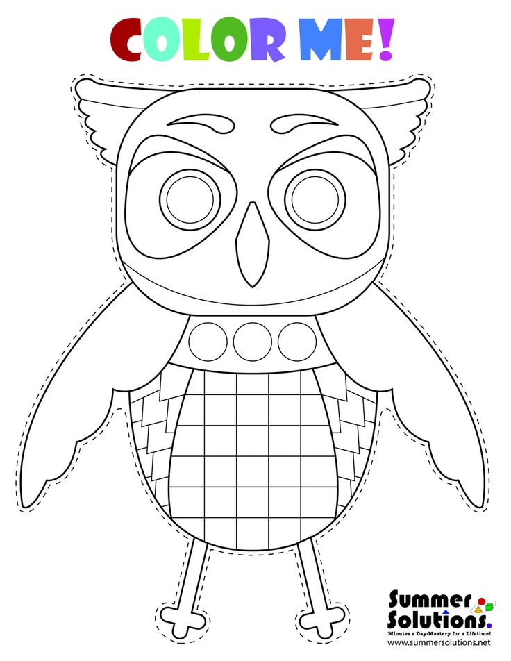 fun owl coloring pages - photo#14