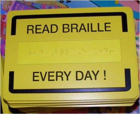 Great List of activities for introducing and enhancing braille literacy.