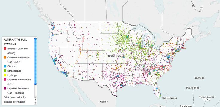US Department of Energy puts alternative fuel stations across the country on the map.