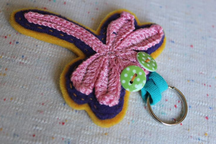 DRAGONFLY KEYCHAIN by lepemalestvari on Etsy