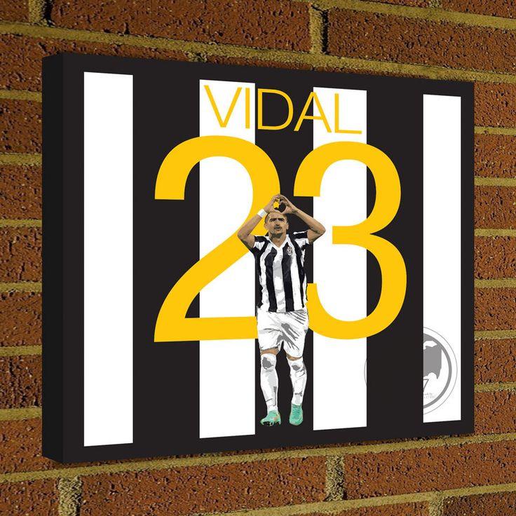 Square Canvas Wrap Soccer Art Print Arturo Vidal Juventus Soccer Poster wall decor home decor, Vidal print, Juventus poster by Graphics17 on Etsy
