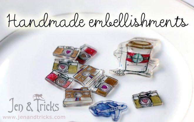 jenandtricks - Handmade shrinkydinks embellishments, use the stamps you have