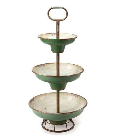 I love this Tiered Server for decoration or a dinner party or wedding apps!!