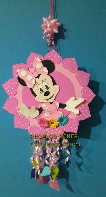 Foamy pinata. Minnie Piñata reutilizable