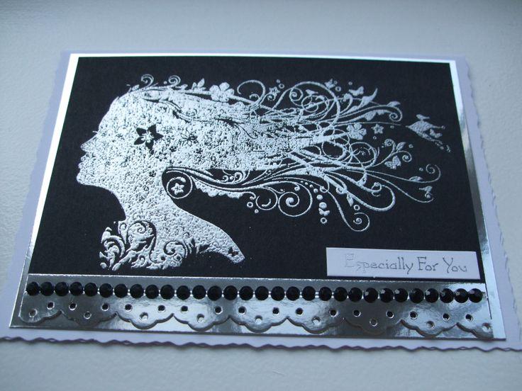 Silver embossed Juliet from Indigo Blu Stamps