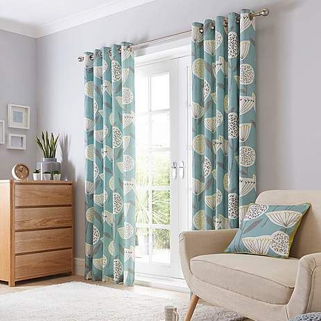 Emmott teal lined eyelet curtains dunelm home pinterest best teal and living rooms ideas for Lined valances for living room