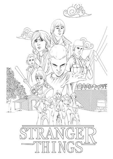 Stranger Things Coloring Pages Free Cat Coloring Book