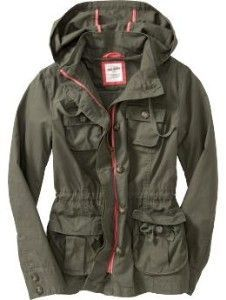 Women's Hooded Anorak Cargo Jackets